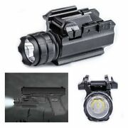 Tactical Cree Led Pistol Rail Flashlight Mount Hunting Lamp Torch 200lm