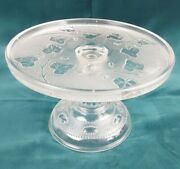 Eapg Ivy In Snow Cake Stand Cake Plate By Flint Co. 8 Wide X 5 Tall