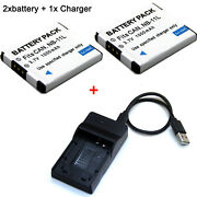 Battery / Charger For Canon Powershot A3500 A4000 Is A4050 Is Elph 110 Hs 115 Is