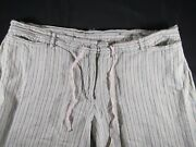 Lane Bryant Green And Brown Vertical Striped Pants – 18/20 – Preowned