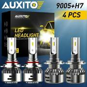 Auxito 4x Led Headlight Bulb Combo 9005 H7 18000lm High Low Beam 6500k 96w Kit