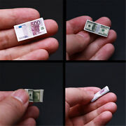1/6 Scale Dollars Euro Paper Toys For 12 Action Figure Money Scene Accessories