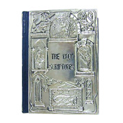 English Hebrew Mounted Bible Judaica Family Bibical Jew Gift 925 Sterling Silver