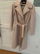 Brian Dales Belted Light Pink Coat - 100 Italian Wool - Size 6