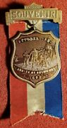 Vintage 1892 400th Anniversary Of Columbus Landing Ribbon And Medal Lot W1952