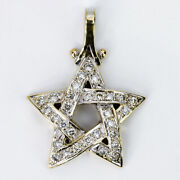 14kt Yellow Gold Pentagram Pendant