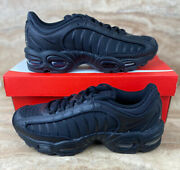 Nike Air Max Tailwind Iv Triple Black Menandrsquos Running Shoes Sneakers