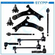 10pcs Front Control Arms Tie Rod Ends Sway Bars For Toyota Rav4 2.0l 2001-2003