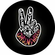 Groovy Peace Sign Spare Tire Cover - Optional Camera Port