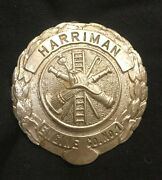 Harriman Newyork Obsolete Fire Department Badges Pins 4 Total And Parade Book