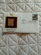 Legends Of The West Overland Mail Gold Stamp Replica Usps First Day Issue 1994