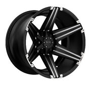 Tuff At F-250 F350 Ford Sd 4-rims T12 Satin Black Milled And Brushed 24x11|8x170