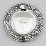 Nursery Rhyme Childs Plate William Kerr Sterling Silver 1910 Christmas Mono