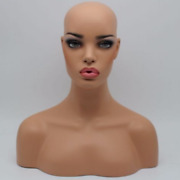 New Female Healthy Color Skin Fiberglass Mannequin Head Bust For Wigs/jewelry 02