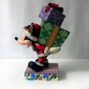 """Rare """"here Comes Old St. Nick"""" Mickey Mouse Disney Showcase Collection / Enesco"""