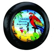 Its 5 Oand039clock Somewhere Bird In Paradise Tire Cover - Optional Camera Port