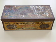 Original Egyptian Cigarettes Empty Tin Box Colonial And Indian London 1886 Exhibit