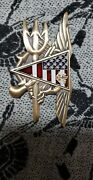 Seal Delivery Vehicle Team One Sdvt-1 Large Trident With Flag Triangle And Bone