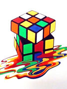 Rubikand039s Cube T-shirt Melting Puzzle 80and039s Game Retro Gr8 Fun Birthday Gift Idea