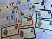 90 Cards 1st Day Issue Us Fdc Stamps America Flags Forest Lighthouses Film Bios