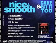 Nice And Smooth Cake And Eat It Too Promo Music Audio Cd No Sellout Pound Cake Mix