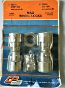 Cp Auto Products Mag Wheel Locks 7/16 Rh Or 1/2 Rh Chrome Pk Of 4 Dated 1985