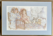 Rare The Family Of Mary Hulgan Signed Artist Proof Hanging Framed Wall Art Euc
