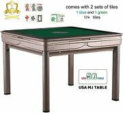 4-legged Champagne Automatic Mahjong Table With 40mm Numbered Tiles Tryho 宣和电动麻将