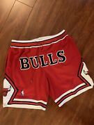 Mitchell And Ness Just Don 1997-98 Retro Chicago Bulls Basketball Shorts Xl Rare