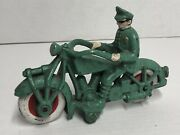Cast Iron Motorcycle Cop Toy Reproduction E1