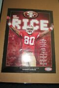 San Francisco 49ers Jerry Rice Retirement Poster 24 X 18 Jerry Rice Poster