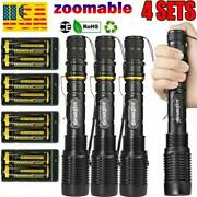 350000lumens Tactical 5modes Led Flashlight Aluminum Zoomable Torch Set Us