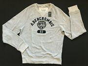 Nwt Abercrombie And Fitch Menand039s Sweatshirt Long Sleeve Light Grey Size M L Xl