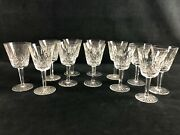 12 Waterford Crystal Clear Lismore Cordial Glasses