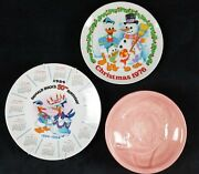 Disney Donald Duck Collector Plates And Bowl