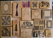 Rubber Stamps Vintage Limited Edition Lot Of 50 Use And New Mounted 1999 Rare