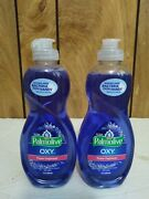 Lot Of 2 Palmolive Ultra Oxy Power Degreaser Dish Liquid Soap Wash 10oz Blue
