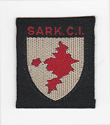 Scouts Of British United Kingdom - Uk Scout Sark Ci County Badge Ext++++ Scarce
