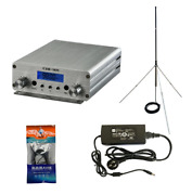 15w Fm Stereo Pll Broadcast Transmitter Fm Excite+gp Wave Antenna+powersource Us