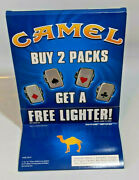 Camel Cigarettes Free Lighter Store Display 2005 4 Lighters Card Suits Unfired