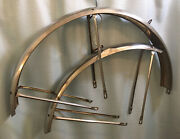 """Vintage 1970s Wald 26"""" Middleweight Fenders Stainless Chrome Mudguards Schwinn"""