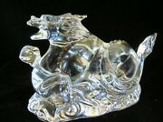 Baccarat Crystal Las Vegas Dragon 5 Andfrac14andrdquo Figurine Paperweight Signed