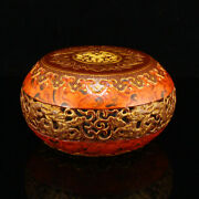 3.8 Chinese Fine Antique Porcelain Gilt Hollow Out Exquisite Pattern Statues