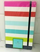 Kate Spade New York Take Note Notebook Journal Candy Stripe Ribbon Bookmark New