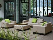 New Designer Lounge Garden Furniture Sofa Seating Couch Beige Patio Living Room
