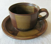 Iron Mountain Roan Mountain - Light And Dark Brown- Cup And Saucers-up To 7 Avail