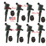 Set Of 8 Street Fire Ignition Coil W Connector Fit 04-08 Ford 4.6 / 5.4l 3-valve