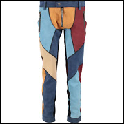 Dsquared2 Multicoloured Patchwork Suede Leather Pants Size Uk 30☓28