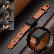 Genuine Leather Apple Watch Band For Iwatch Series 6 5 4 3 2 38mm/40mm 42mm/44mm