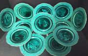 """Twelve12 Fabrique D'emaux Scenic Majolica 8 1/4""""plates-all Different"""